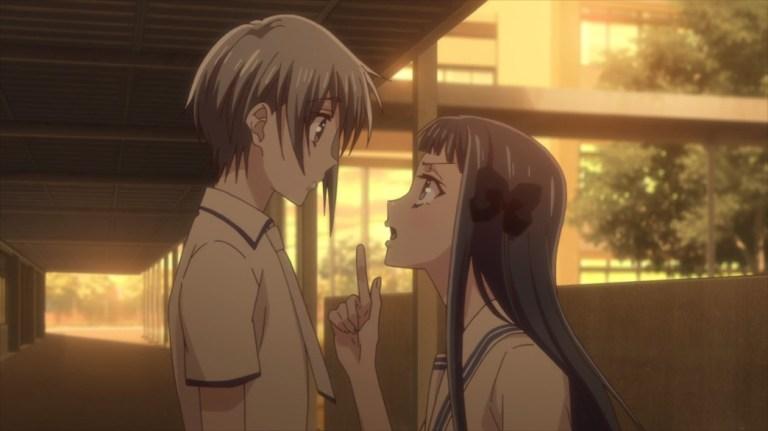 Fruits Basket Episode 26 Yuki and Motoko
