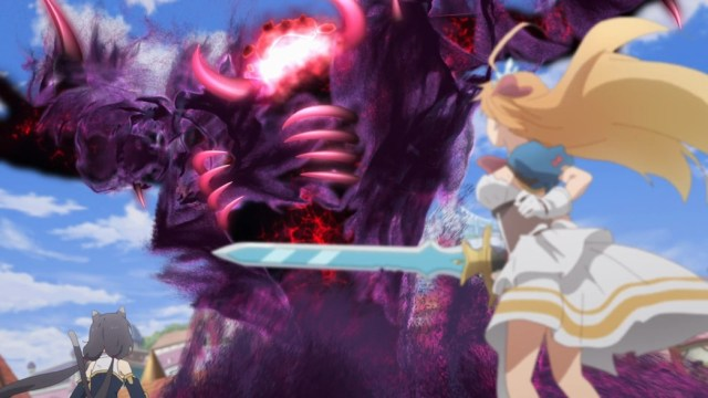 Princess Connect ReDive Episode 12 Karyl and Pecorine face off against the Ultimate Shadow Warrior