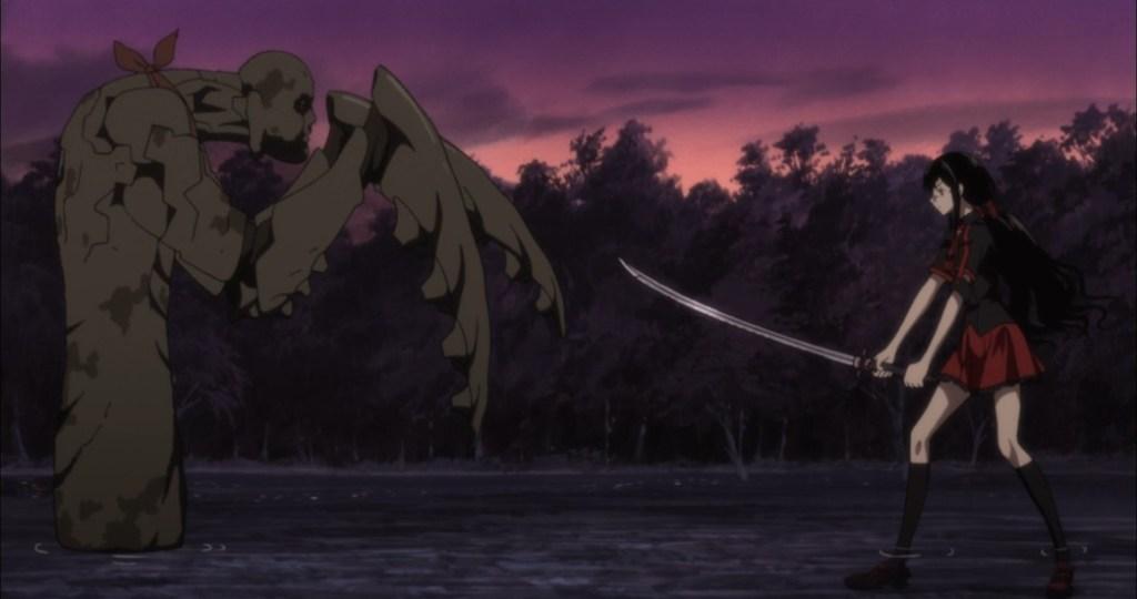 Blood C Episode 1 Saya versus Elder Bairn
