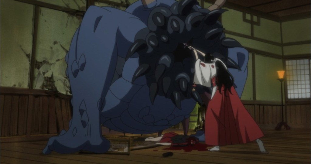 Blood C Episode 5 Saya versus Elder Bairn