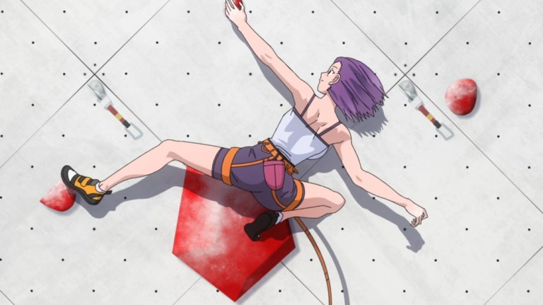Iwa Kakeru Sport Climbing Girls Episode 1 Konomi has a go at Sports Climbing