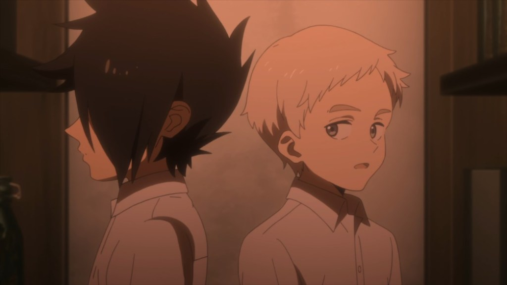 The Promised Neverland Episode 3 Ray and Norman Plotting