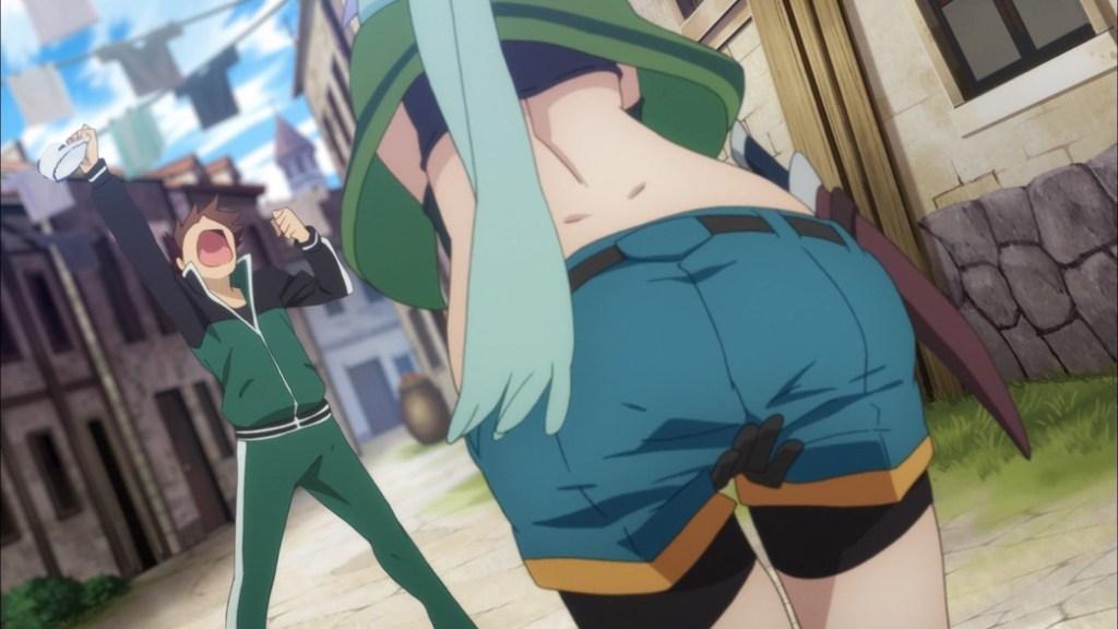 KonoSuba Episode 3 Kazuma steals Chris' Panties