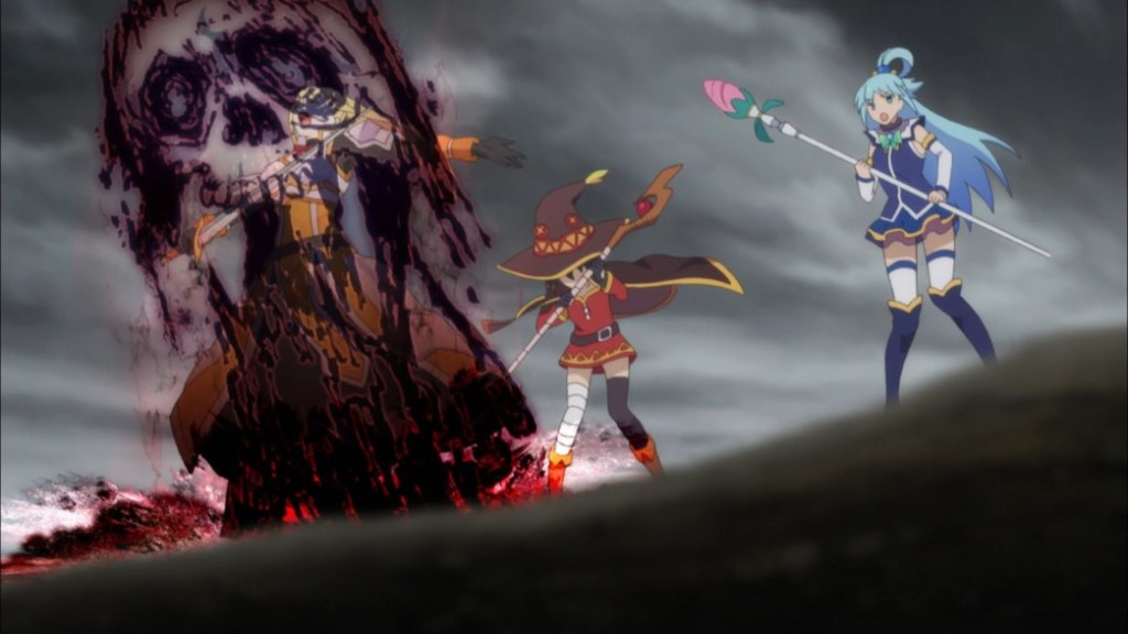 KonoSuba Episode 4 Darkness cursed in Megamin's place