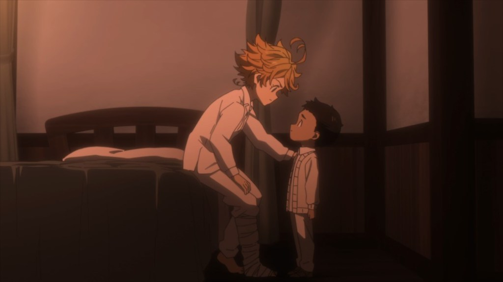 The Promised Neverland Episode 12 Emma and Phil