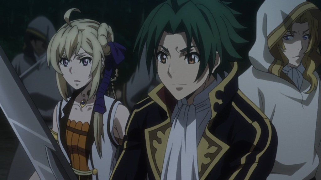 Record of Grancrest War Episode 7 Siluca and Theo protecting Marquess Alexis Deux