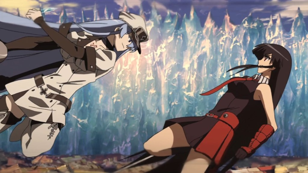 Akame ga Kill Episode 24 Esdeath and Akame fighting