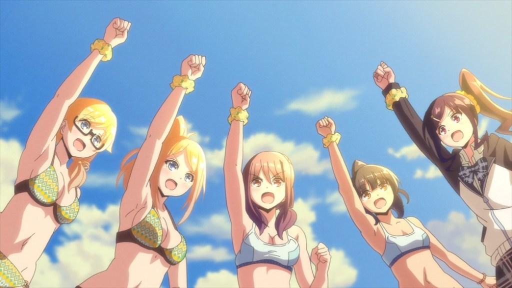 Harukana Receive Episode 9 Haruka Kanata Claire Emily and Akari