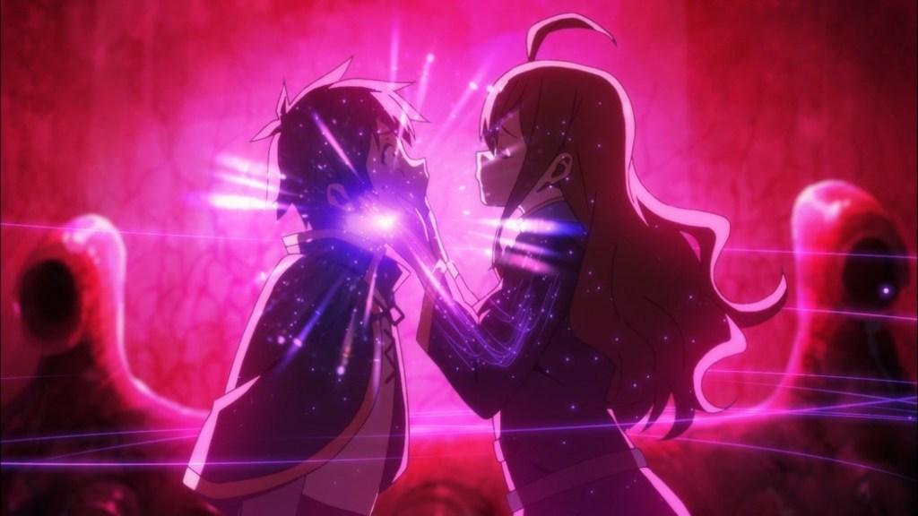 KonoSuba Episode 10 Wiz sucks Kazuma's magic