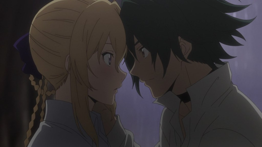 Record of Grancrest War Episode 9 Siluca and Theo kiss