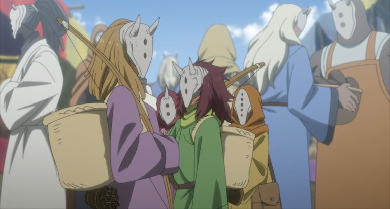 The Promised Neverland Season Two Episode 5 Emma Ray Don and Gilda disguised as demons