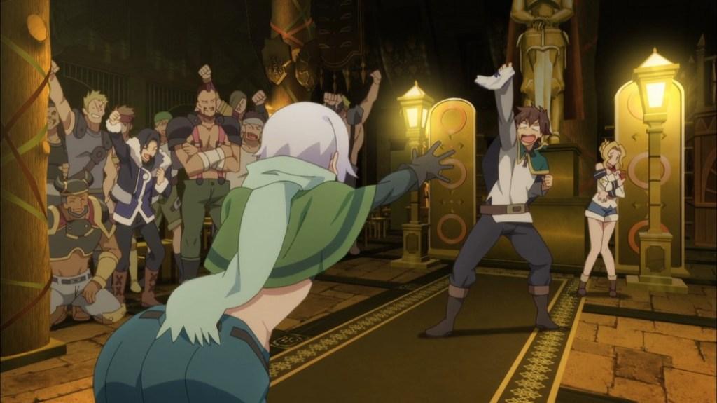 KonoSuba Episode 14 Kazuma stole Chris' panties again