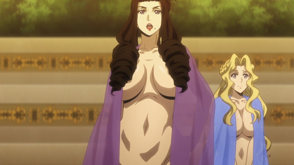 Record of Grancrest War Episode 16 Edokia Queen and Laura Hardly nude