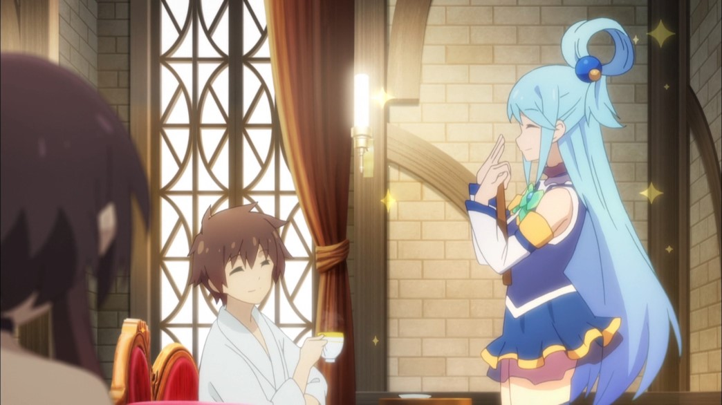 KonoSuba Episode 18 Kazuma and Aqua preparing to be rich