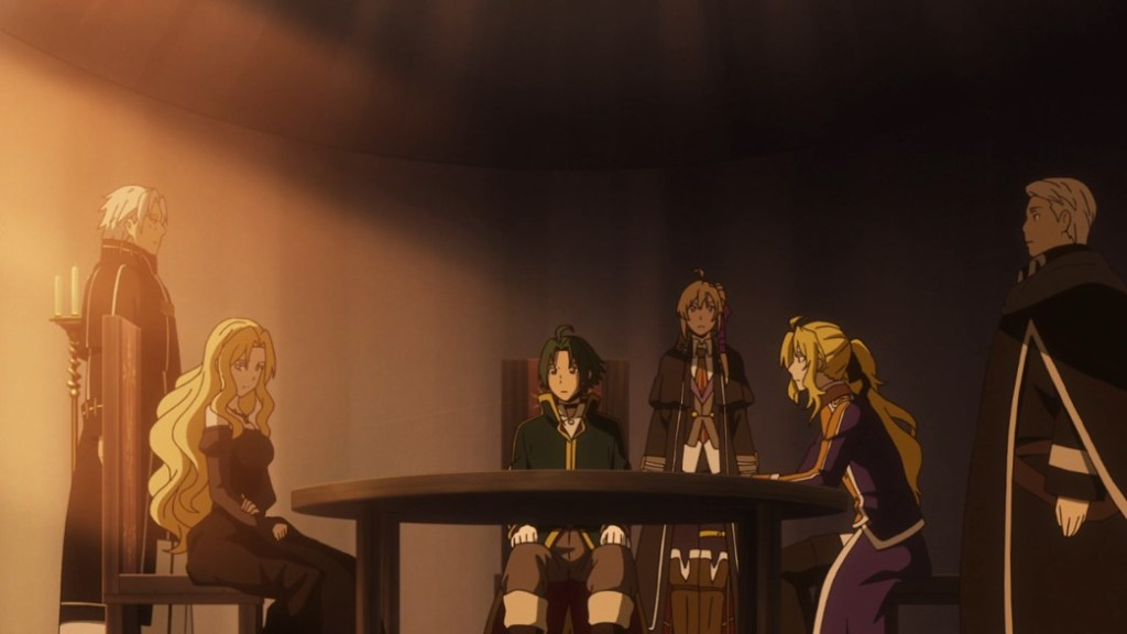Record of Grancrest War Episode 20 Marrine Kriesche Theo Cornaro and Alexis Doucet have a chat