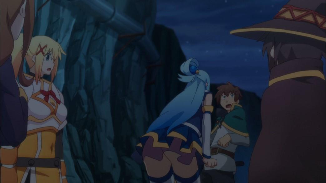 KonoSuba Episode 21 Aqua's bum