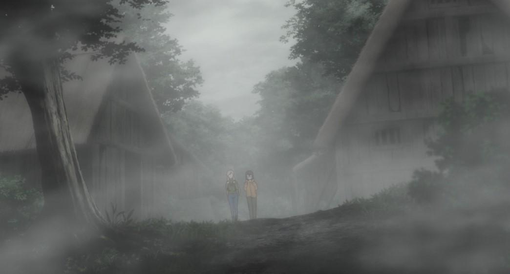 Otherside Picnic Episode 3 Sorawo Kamikoshi and Toriko Nishina exploring