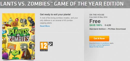 Plants vs Zombies offert par EA !