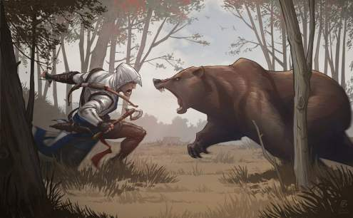 assassin__s_creed_3_bear_attack_by_patrickbrown-d5ip4lp