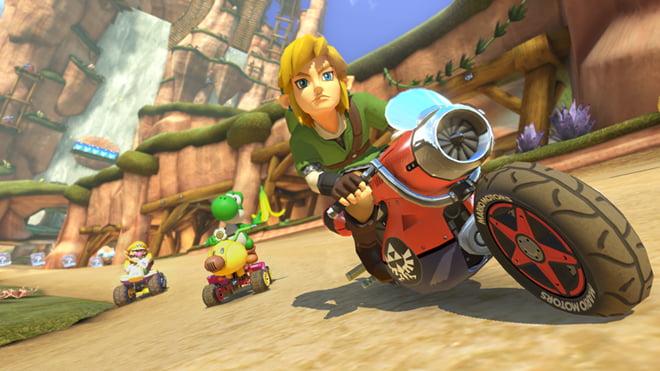 Link dans Mario Kart 8 ! Qui l'eût cru ?