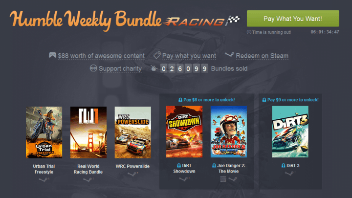 Humble Weekly Bundle Racing