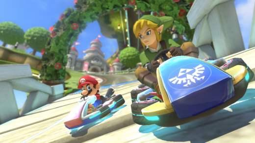 Link et Mario sur un circuit