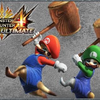 Débloquer le costume Mario et Luigi dans Monster Hunter 4 Ultimate !