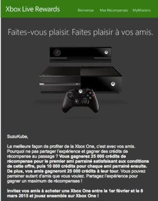Xbox reward