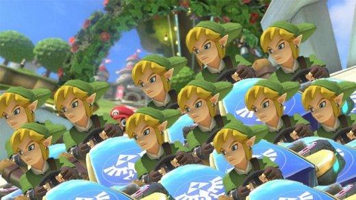 Mario Kart 8 depuis le DLC Zelda...