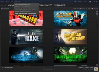 Et hop ! On ajoute The Witcher 3 à la bibliothèque Steam !