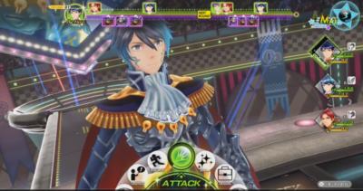 L'écran de combat de Shin Megami X Fire Emblem