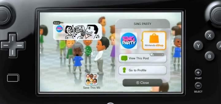 Le Miiverse est présent un peu partout sur la Wii U