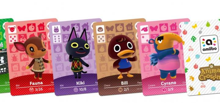 Pleins de cartes Amiibo Animal Crossing !