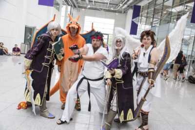 Un petit groupe de cosplayeurs à la Gamescom