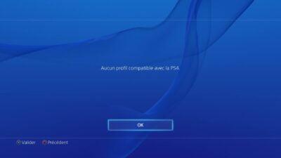 Et non, pas de profil compatible. Merci Sony...