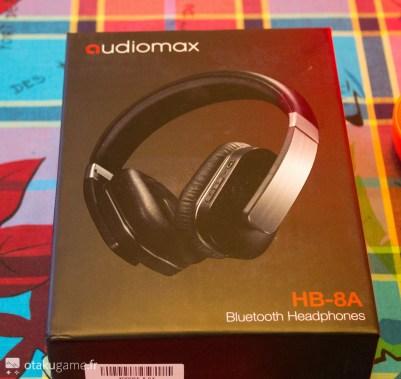 Déballage du casque Bluetooth Audiomax HB-8A