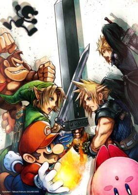 Artwork de Super Smash Bros (Cloud)