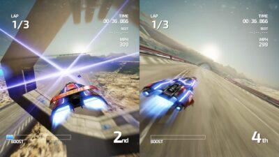 Le split vertical a été choisi pour le mode 2 joueurs, un choix étrange mais qui s'explique par nos écrans, désormais en 16/10eme !