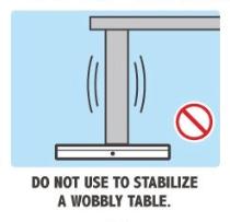 N'utilisez pas votre 3DS pour caler une table bancale.