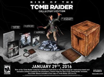 Edition Collector Rise of The Tomb Raider PC