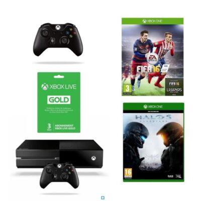 Xbox One 1 To + FIFA 16 + Halo 5 + 2e Manette + Abo Gold 3 mois