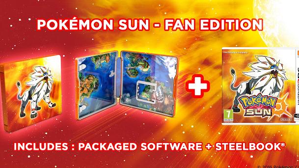 Pokémon Soleil et son Steelbook