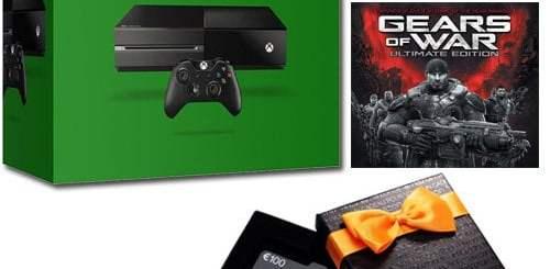 100€ de cartes cadeau offert avec la Xbox One !