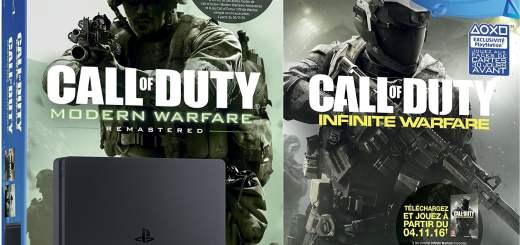 Un pack PS4 Slim avec COD Modern Warfare Remastered (et accessoirement Infinite Warfare).