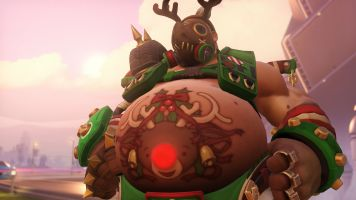 Roadhog 2017 Christmas skin wallpaper