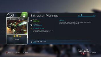 Halo Wars 2 Blitz Extractor Marines Description