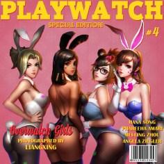 Playwatch featuring Overwatch girls