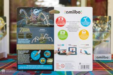 Boîte Amiibo Zelda Breath of The Wild