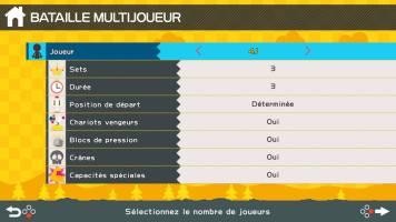 Voici les paramètres multijoueur de ce Bomberman R sur Switch...