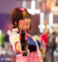 Cosplay D.va Pallanquin Gamescom 2017
